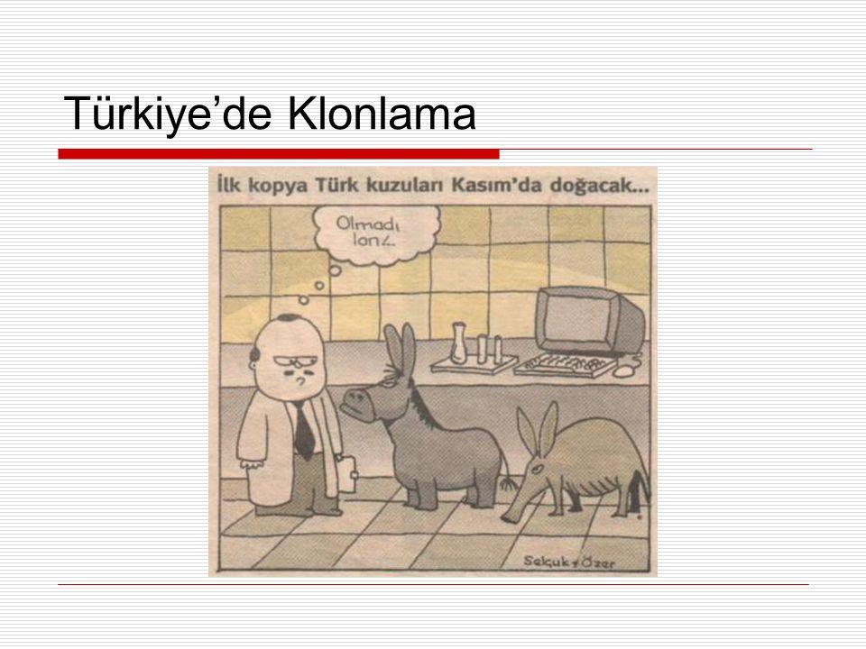 Türkiye'de Klonlama
