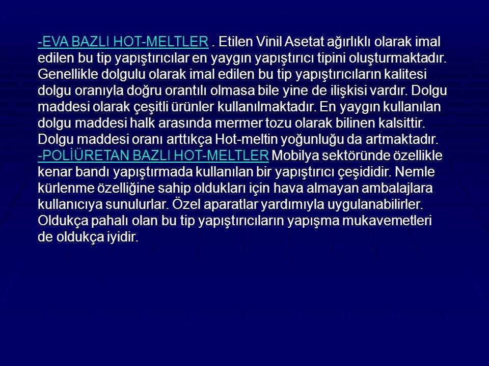 -EVA BAZLI HOT-MELTLER