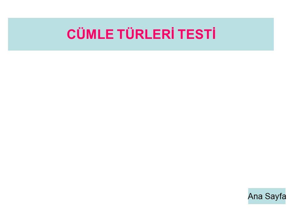 CÜMLE TÜRLERİ TESTİ Ana Sayfa