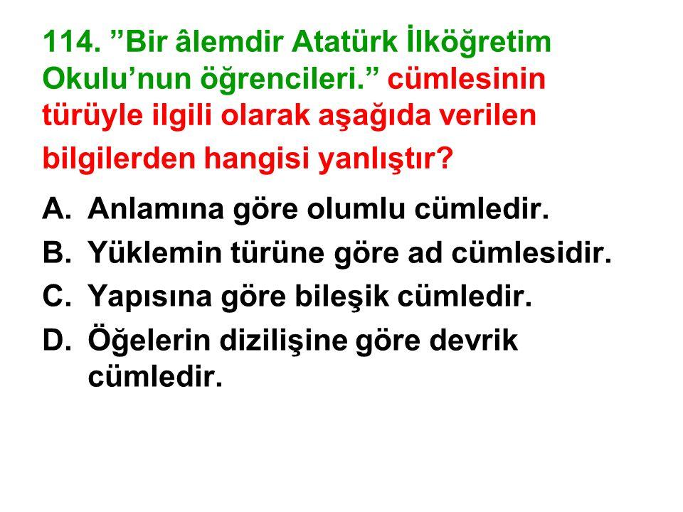 114. Bir âlemdir Atatürk İlköğretim Okulu'nun öğrencileri