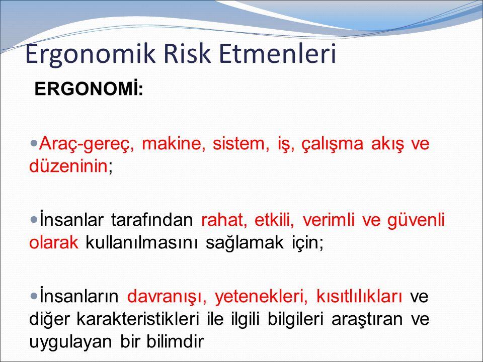 Ergonomik Risk Etmenleri