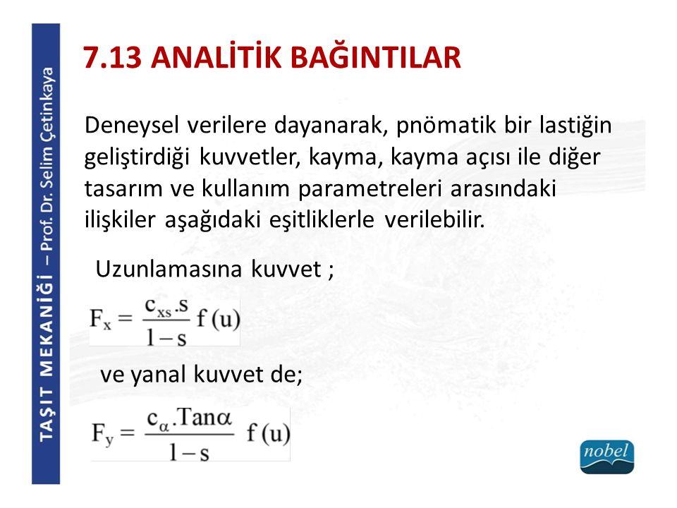 7.13 ANALİTİK BAĞINTILAR