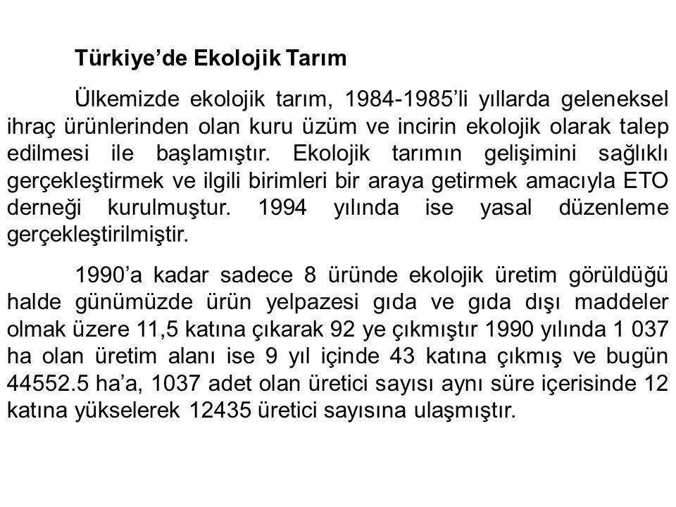 Türkiye'de Ekolojik Tarım