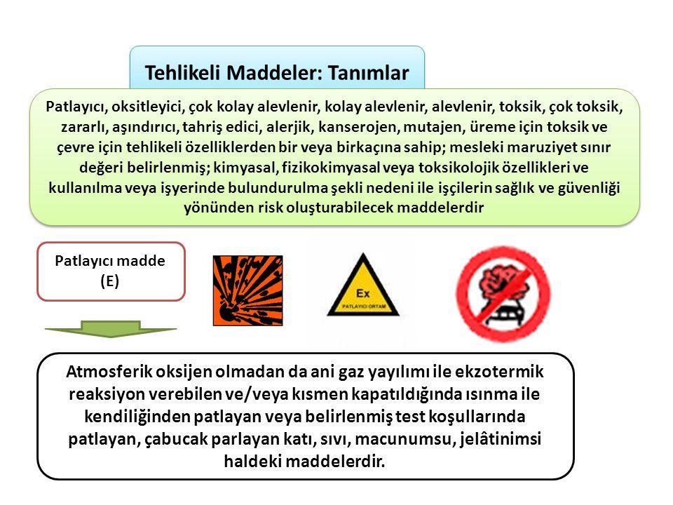 Tehlikeli Maddeler: Tanımlar