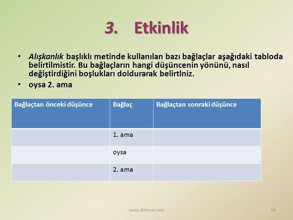 3. Etkinlik