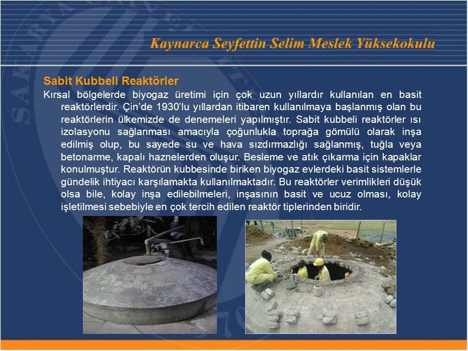 Sabit Kubbeli Reaktörler