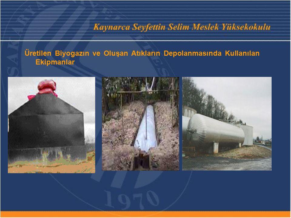 Üretilen Biyogazın ve Oluşan Atıkların Depolanmasında Kullanılan Ekipmanlar