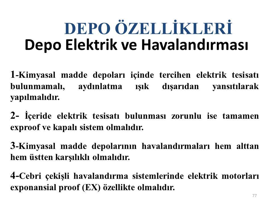 Depo Elektrik ve Havalandırması