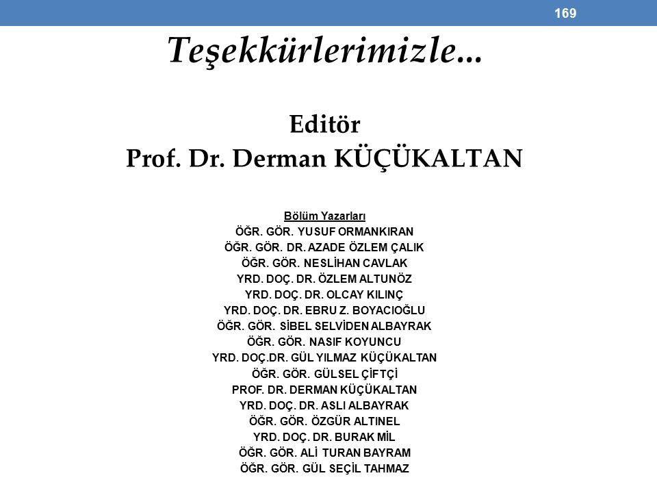 Prof. Dr. Derman KÜÇÜKALTAN ÖĞR. GÖR. ALİ TURAN BAYRAM