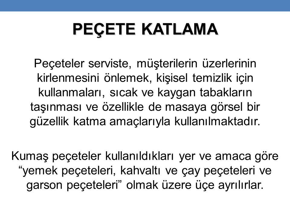 PEÇETE KATLAMA