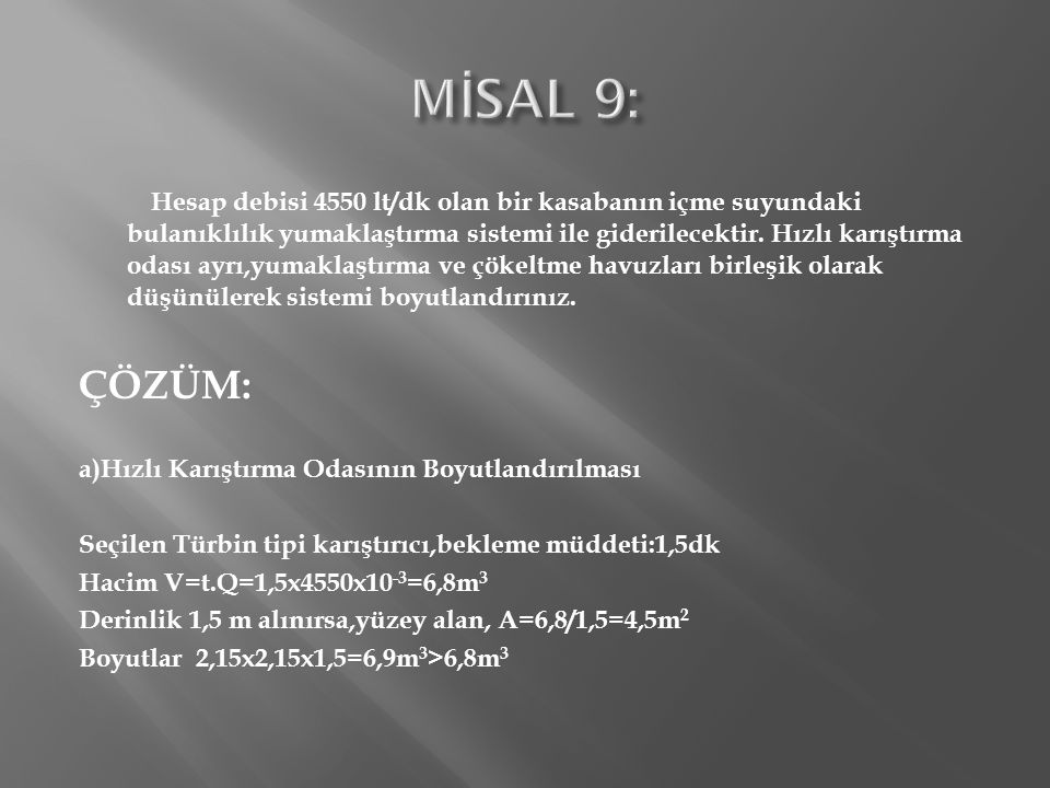 MİSAL 9: