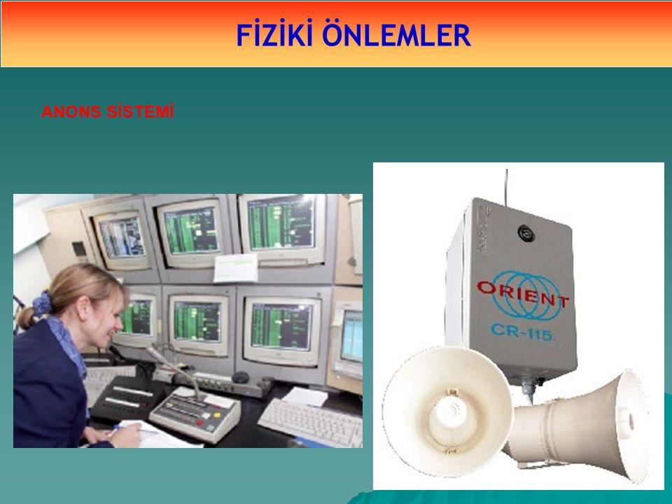FİZİKİ ÖNLEMLER ANONS SİSTEMİ