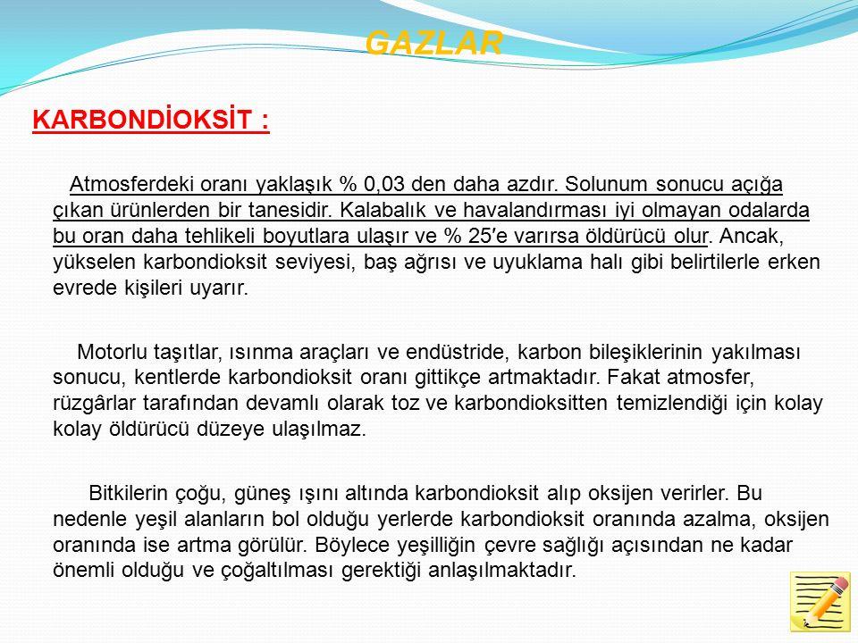 GAZLAR KARBONDİOKSİT :
