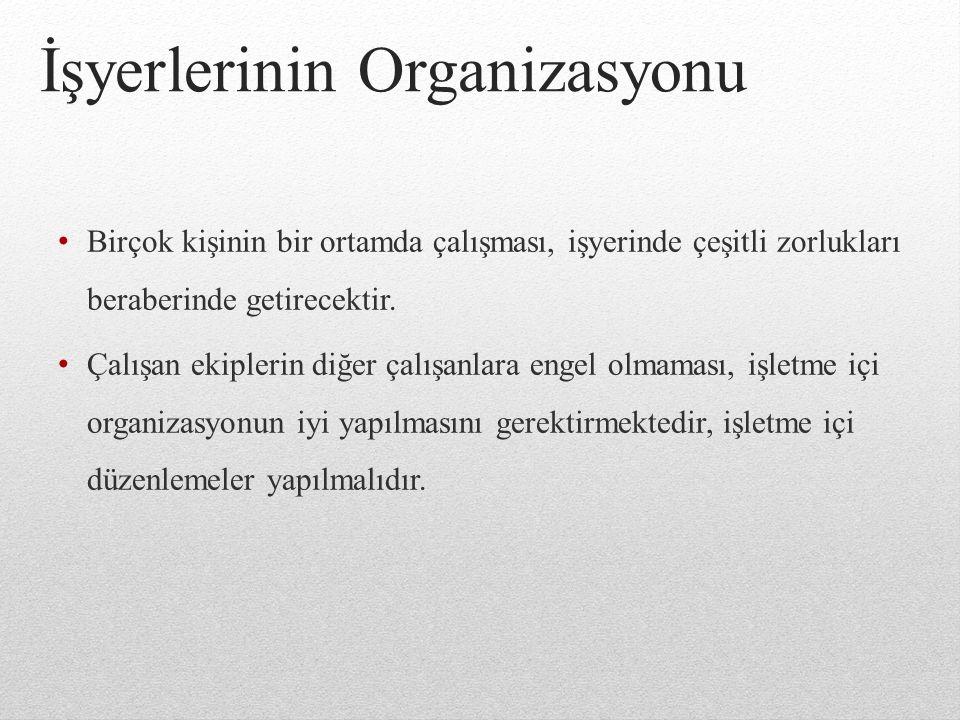 İşyerlerinin Organizasyonu