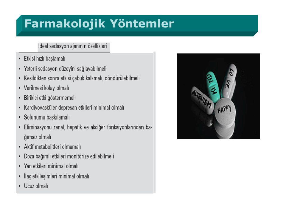 Farmakolojik Yöntemler