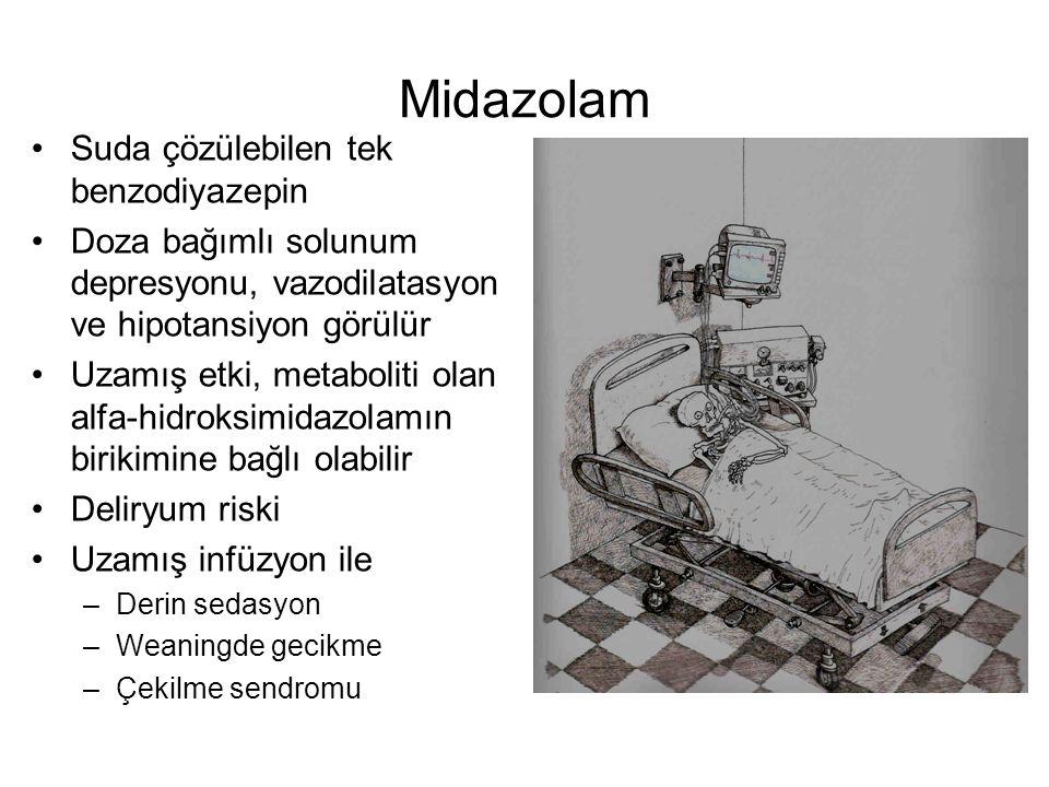 Midazolam Suda çözülebilen tek benzodiyazepin