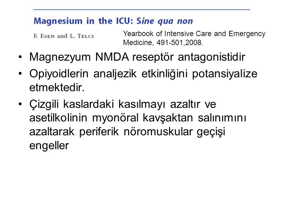 Magnezyum NMDA reseptör antagonistidir