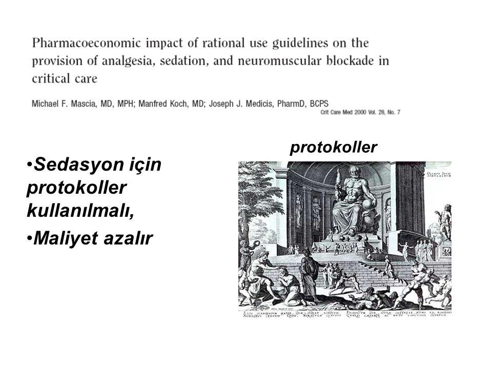 Sedasyon için protokoller kullanılmalı,