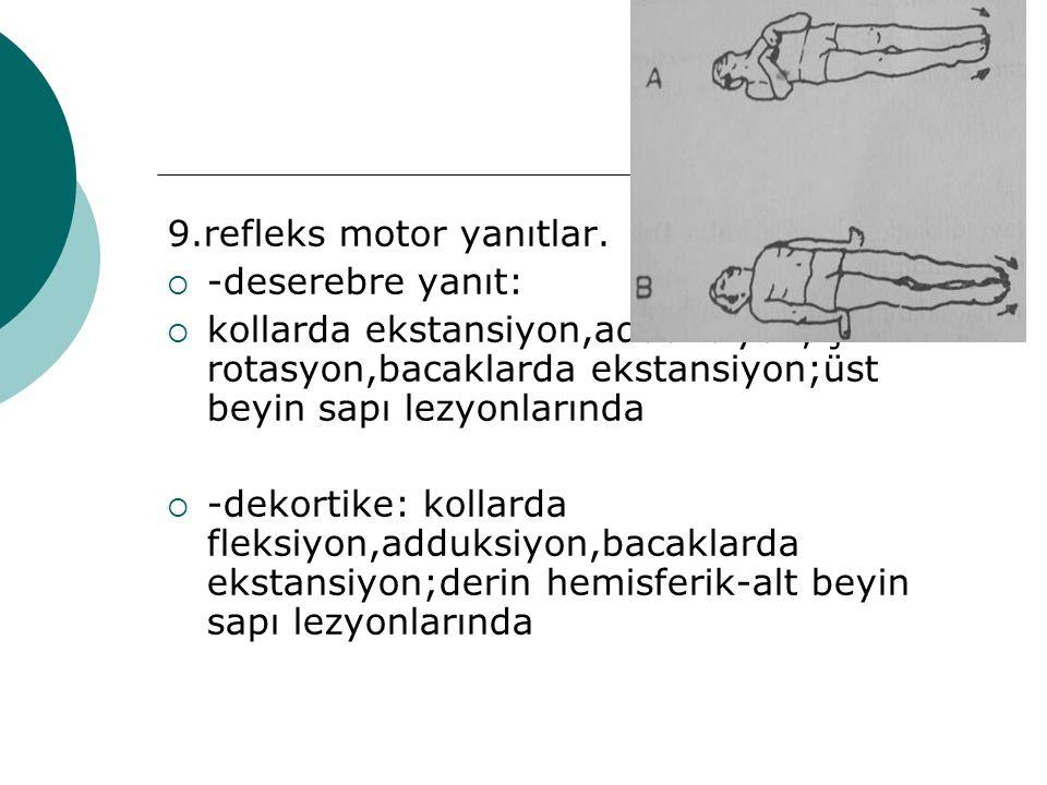 9.refleks motor yanıtlar.
