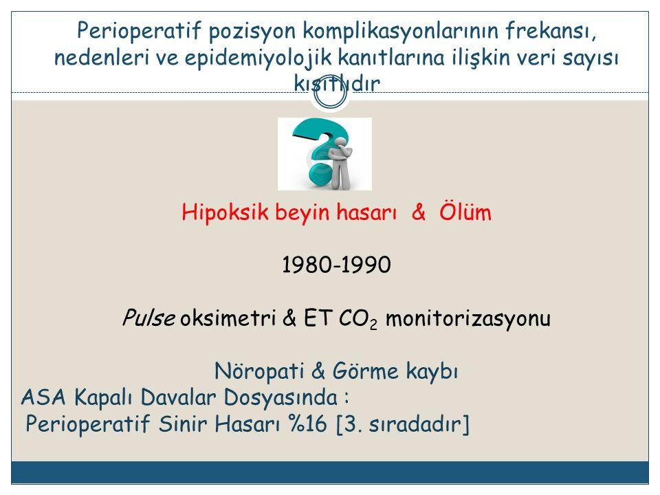 Hipoksik beyin hasarı & Ölüm 1980-1990