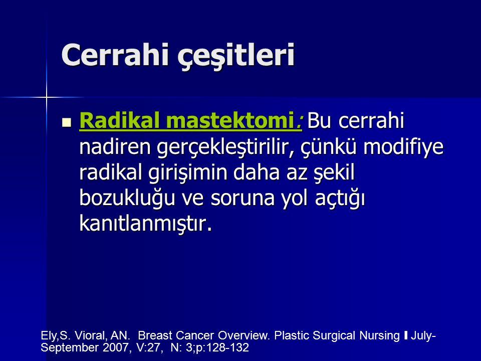 Cerrahi çeşitleri