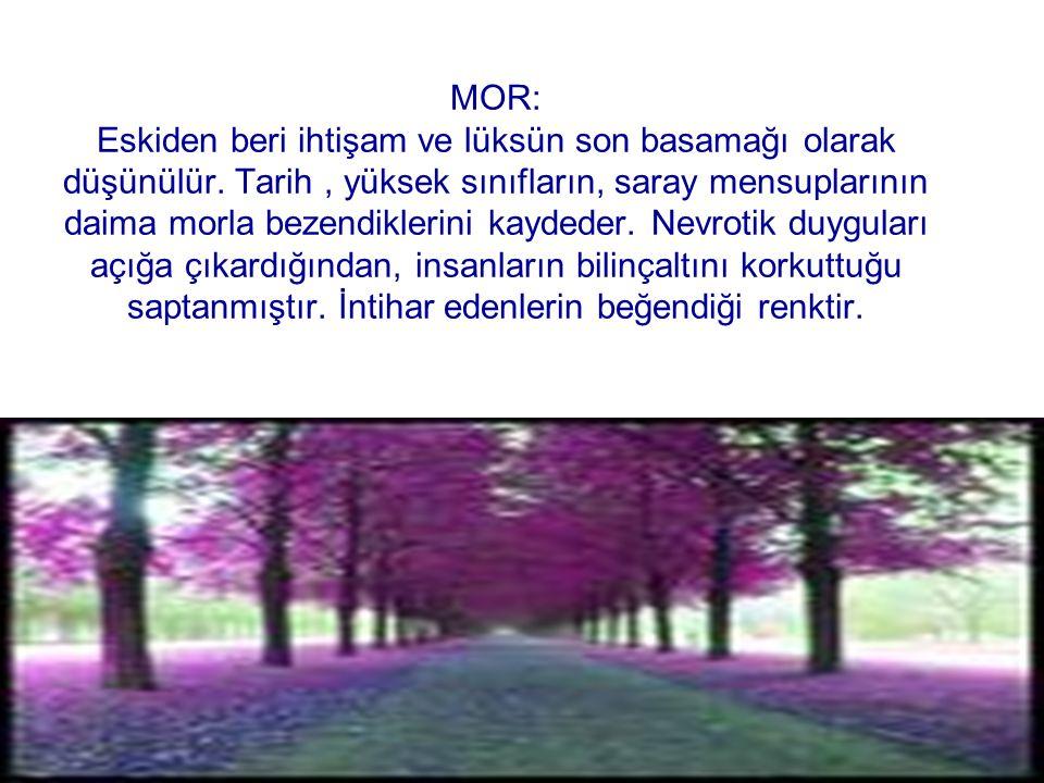 MOR: Eskiden beri ihtişam ve lüksün son basamağı olarak düşünülür