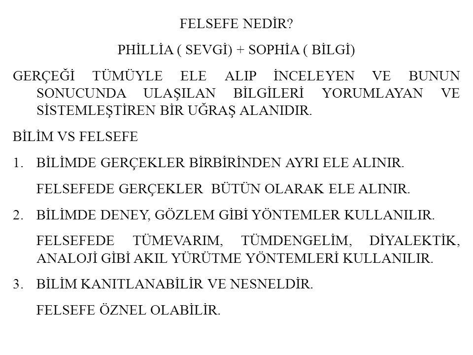 PHİLLİA ( SEVGİ) + SOPHİA ( BİLGİ)