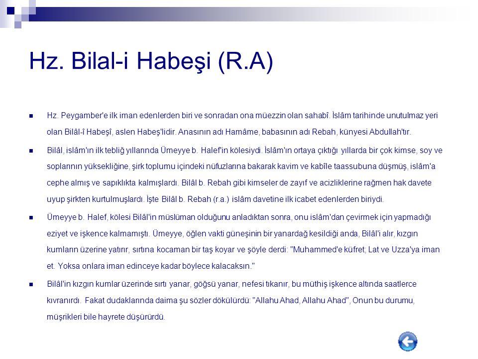 Hz. Bilal-i Habeşi (R.A)