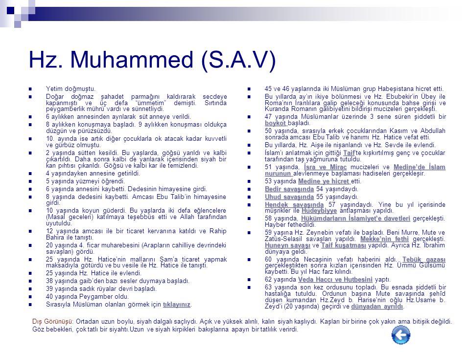 Hz. Muhammed (S.A.V) Yetim doğmuştu.
