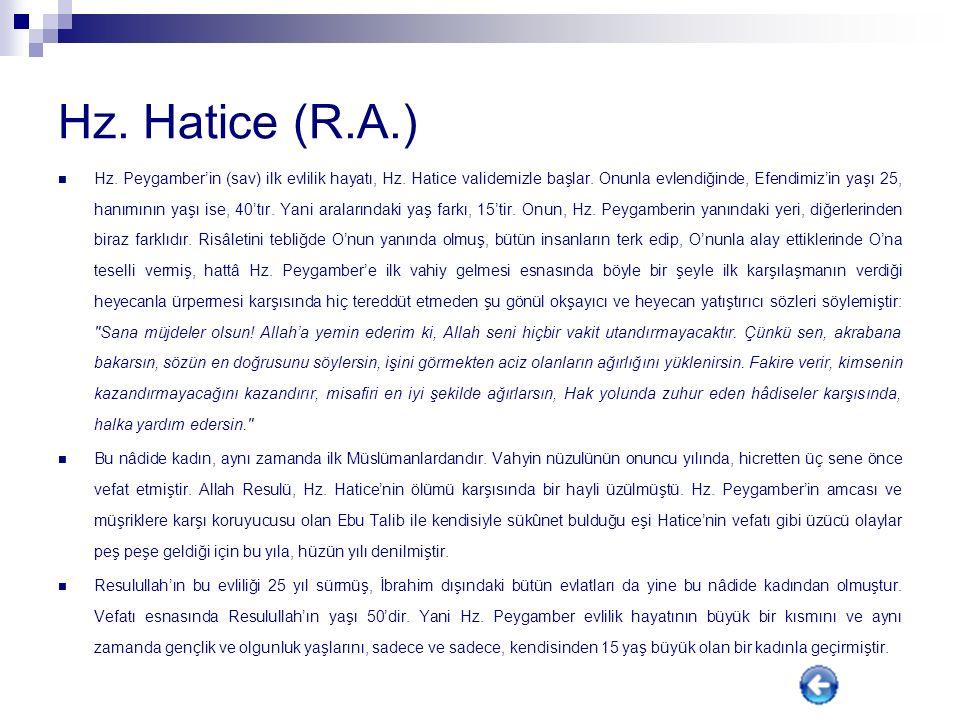 Hz. Hatice (R.A.)