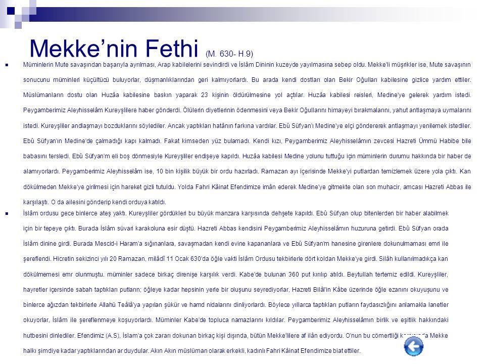 Mekke'nin Fethi (M. 630- H.9)