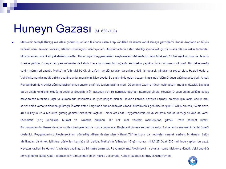 Huneyn Gazası (M. 630- H.8)