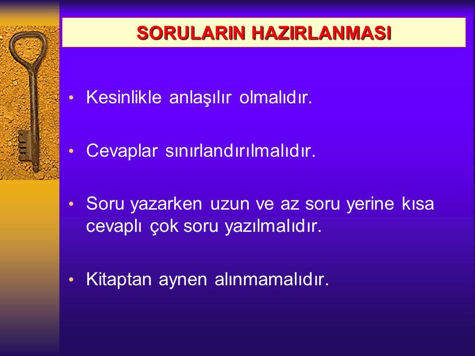 SORULARIN HAZIRLANMASI