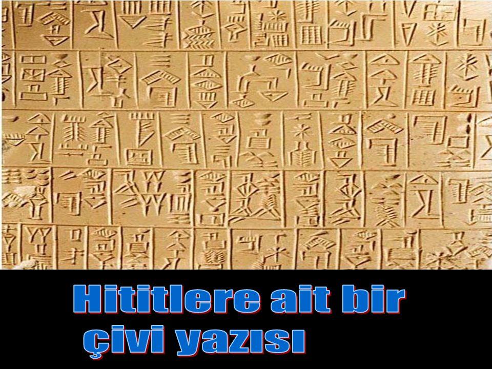 Hititlere ait bir çivi yazısı