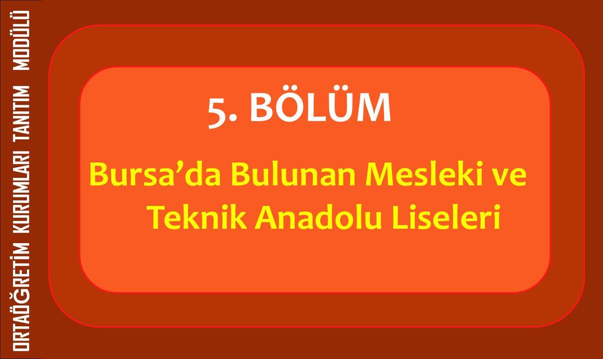Bursa'da Bulunan Mesleki ve Teknik Anadolu Liseleri