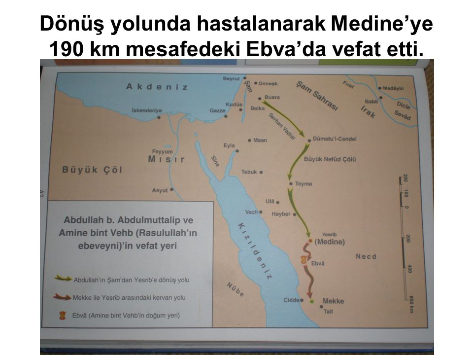 Dönüş yolunda hastalanarak Medine'ye 190 km mesafedeki Ebva'da vefat etti.