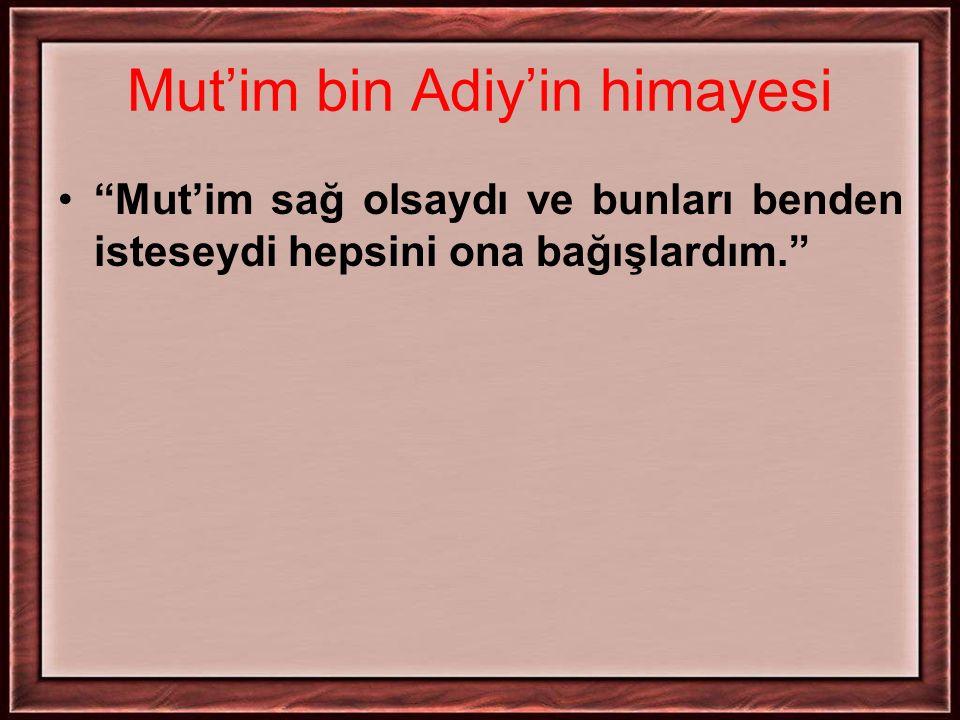 Mut'im bin Adiy'in himayesi