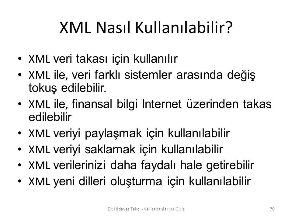 XML Nasıl Kullanılabilir