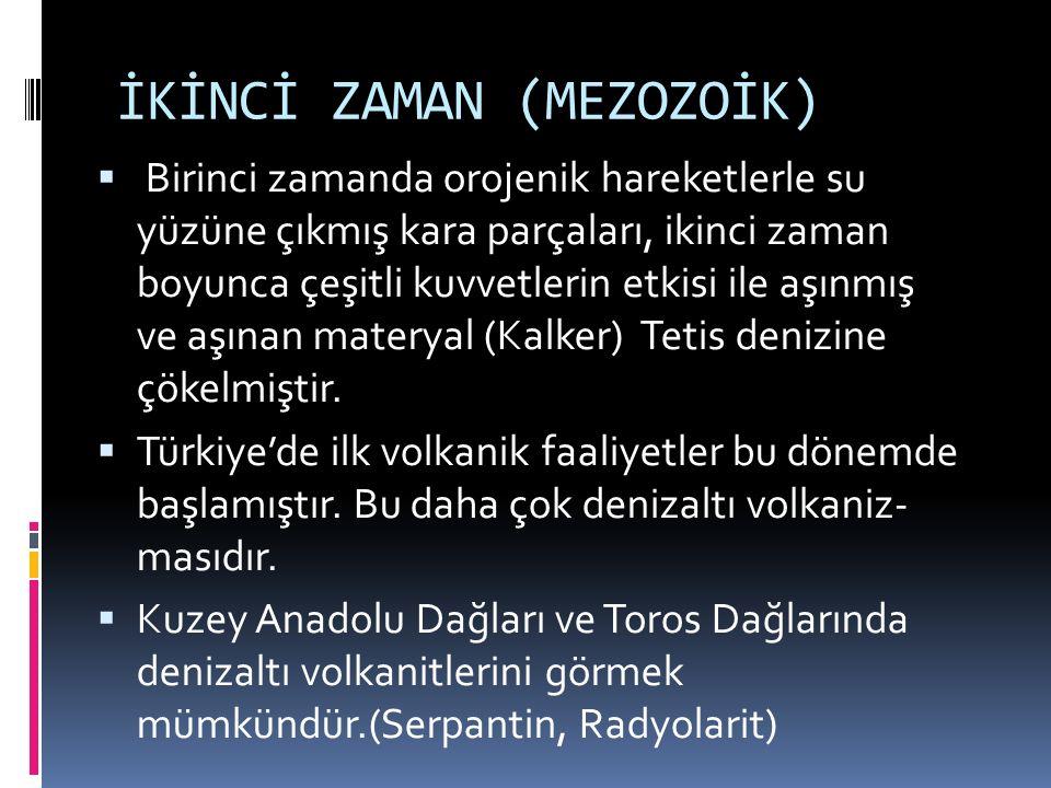 İKİNCİ ZAMAN (MEZOZOİK)