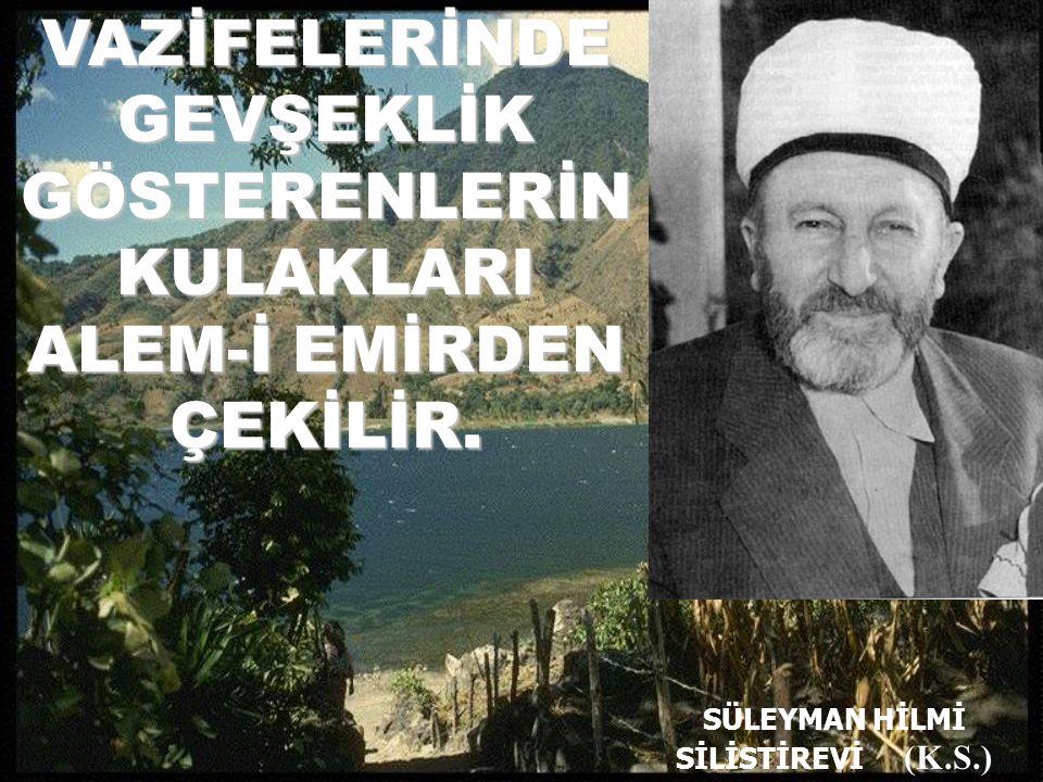 SÜLEYMAN HİLMİ SİLİSTİREVİ (K.S.)