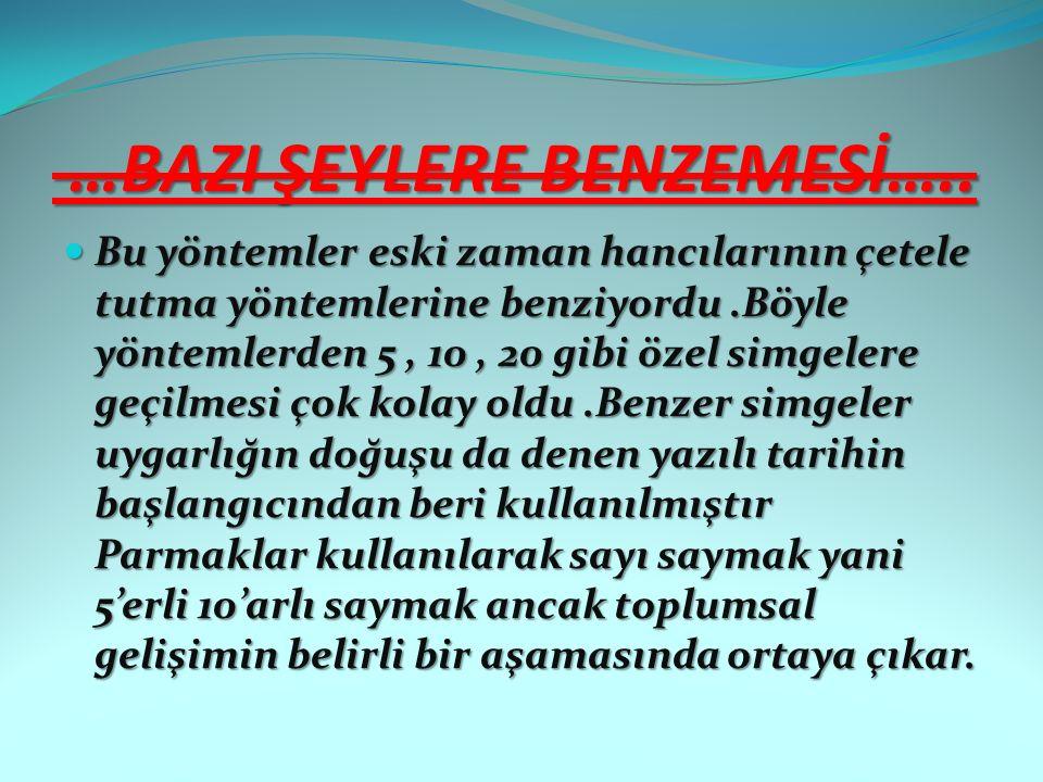 …BAZI ŞEYLERE BENZEMESİ…..