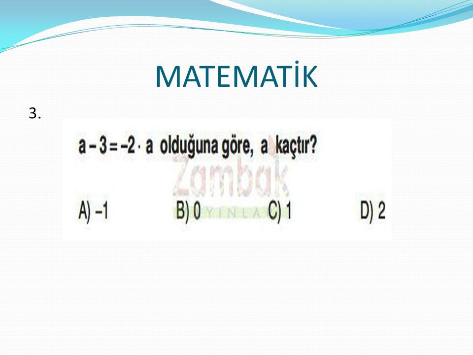 MATEMATİK 3.