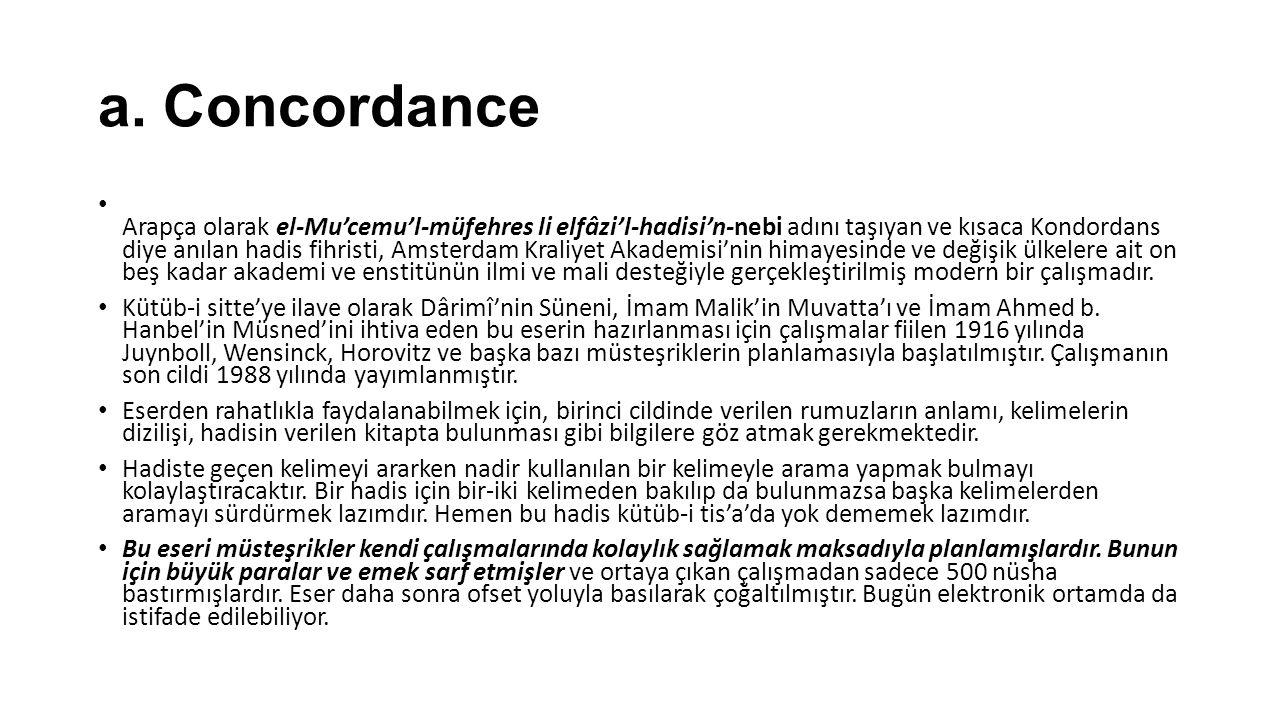 a. Concordance