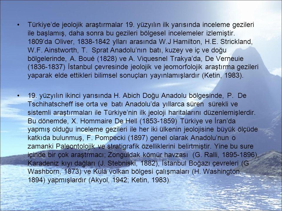 Türkiye'de jeolojik araştırmalar 19