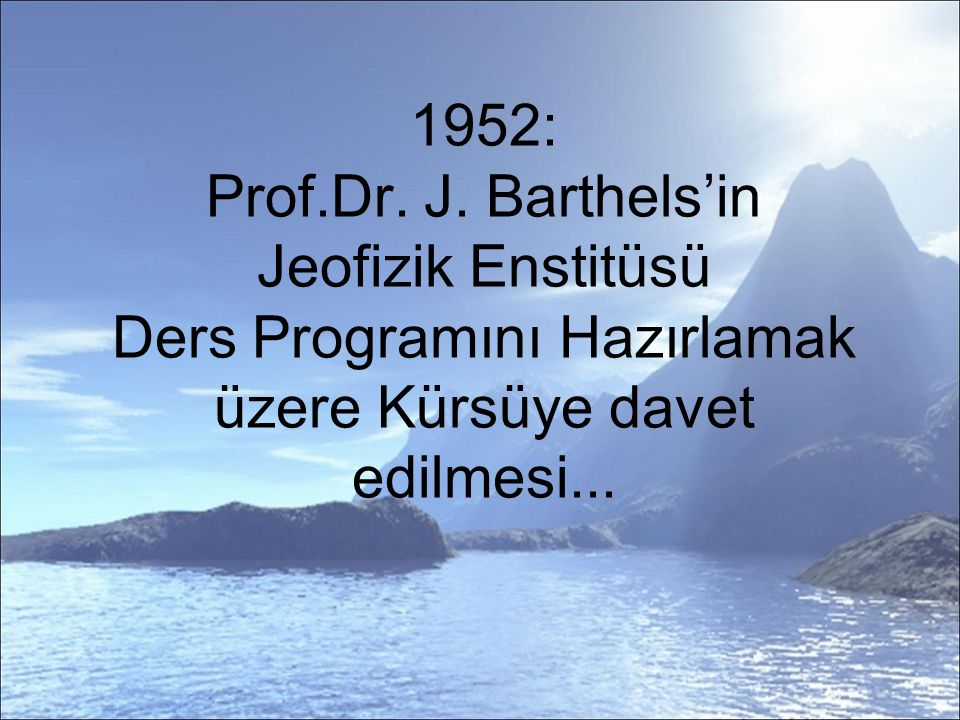 1952: Prof.Dr. J.