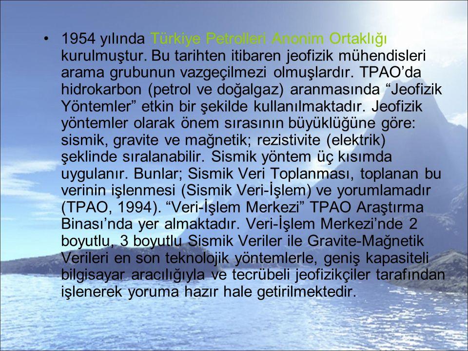 1954 yılında Türkiye Petrolleri Anonim Ortaklığı kurulmuştur