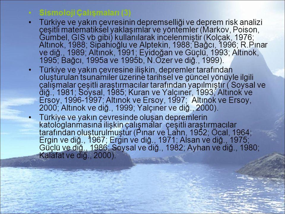 Sismoloji Çalışmaları (3)