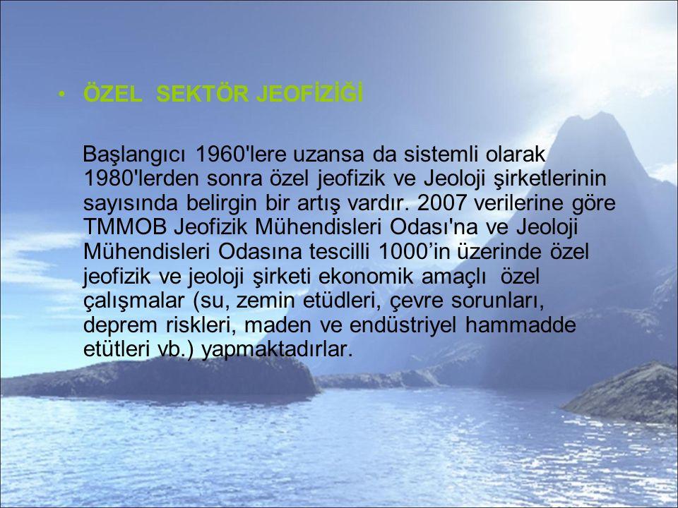 ÖZEL SEKTÖR JEOFİZİĞİ