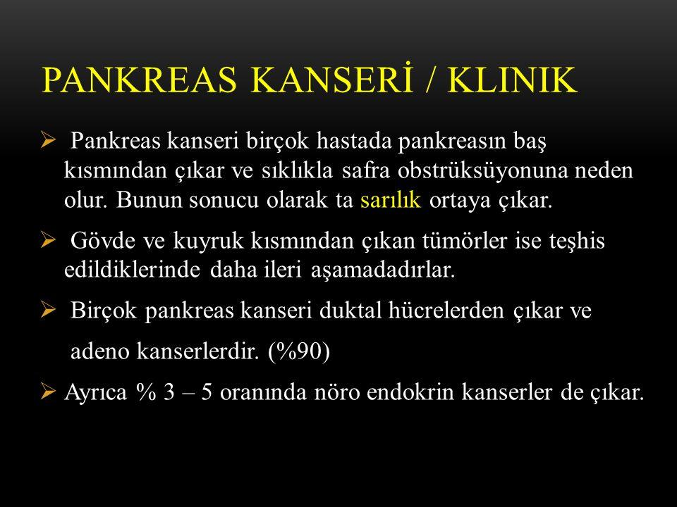 PANKREAS KANSERİ / Klinik