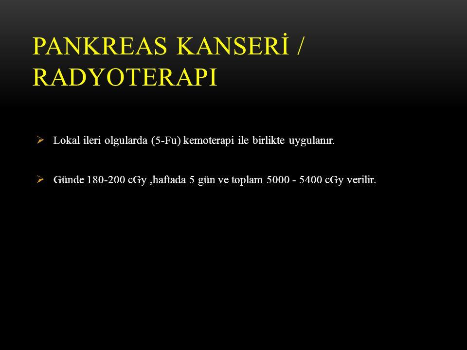 PANKREAS KANSERİ / Radyoterapi